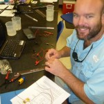 During the workshop, teachers learned how to construct and calibrate sensors.