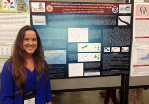 Ceil presents her findings at the Gulf of Mexico Oil Spill and Ecosystem Science conference in Houston. (Photo credit: Jonathan Miller)