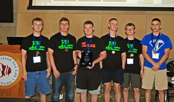 """Ranger Level Winners Santa Rosa Christian School """"Subtropics"""" pose for a photo. The Subtropics have received the competition's top spot each year since 2013. (Photo credit: Tina Miller-Way)"""
