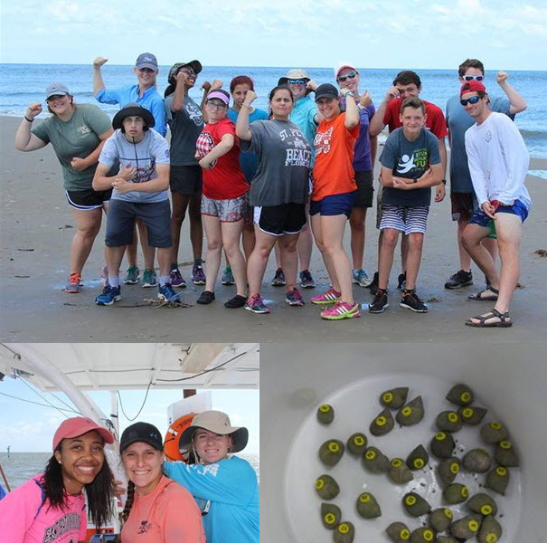 2016 LEAD Camp Participants and collected periwinkle snails. (Photo Credits: CWC)