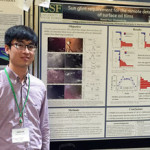 Shaojie presents his research on sun glint requirements for oil film detection at the 2016 Gulf of Mexico Oil Spill & Ecosystem Conference in Tampa, Florida. (Photo by Chuanmin Hu)