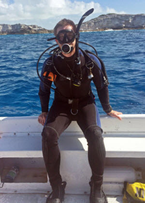 Max prepares for a dive. (Provided by Max Weber)