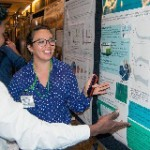 Maya presents her preliminary findings at the 2016 Gulf of Mexico Oil Spill and Ecosystem Science Conference. (Provided by Maya Morales-McDevitt)