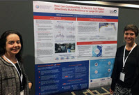 Vanessa and fellow GoMRI Scholar Jacqueline Fiore in front of a CRGC poster at the 2017 Gulf of Mexico Oil Spill and Ecosystem Science conference. (Provided by Vanessa Parks)