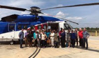 RGC group photo at the Cut Off, LA, heliport. (Provided by Vanessa Parks)