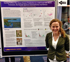 Jessica presents her research at the 2016 Gulf of Mexico Oil Spill & Ecosystem Science conference in Tampa, FL. (Photo by Michael Polito)
