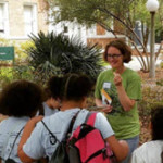 Dr. Van Bael talks with students during one of her summer workshops. Photo Credit: Sunshine Van Bael